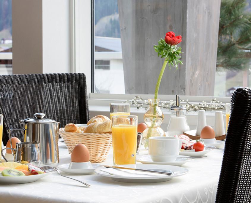 Im Sonnblick beginnt der Tag mit einem reichhaltigen Frühstück besonders genussvoll