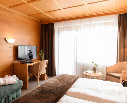 Komfortables Doppelzimmer mit Südbalkon