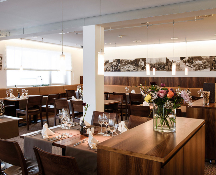 Ein edler Rahmen für genussvolle Abende: Das Sonnblick Restaurant