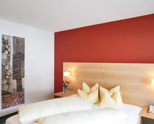 Behaglichkeit und Komfort erwarten Sie in unseren gemütlichen Zimmern