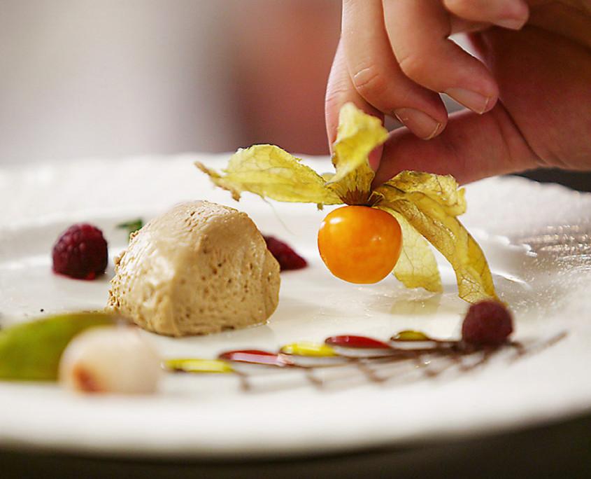 Unser Küchenchef ist bekannt für seine besonderen Dessert-Kreationen